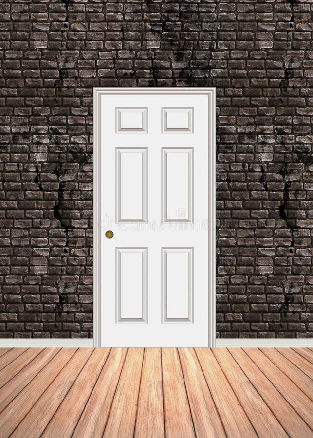 Porta del muro di mattoni illustrazione vettoriale