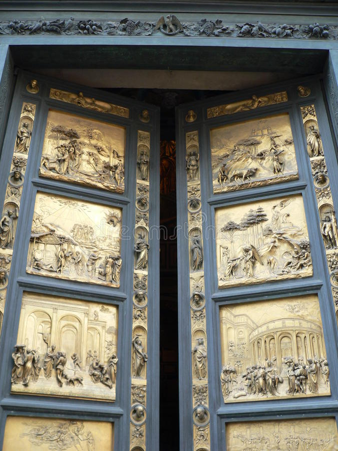 Porta del Paradiso, Firenze (Италия) стоковое фото