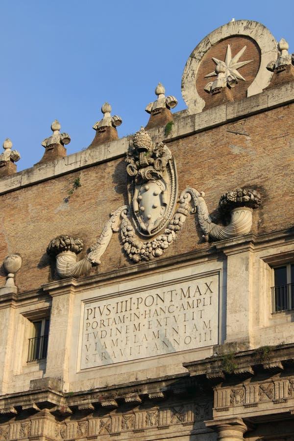 Porta del Popolo en Roma imagen de archivo libre de regalías