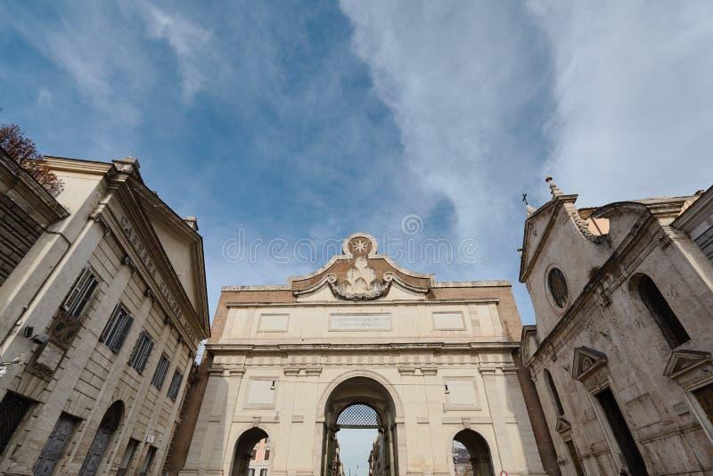 Porta Del Popolo In Rome. Italy. High quality photo stock image