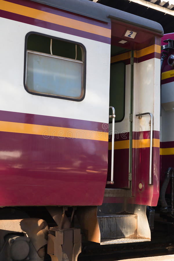 porta del treno ferroviario del trasporto fotografia stock