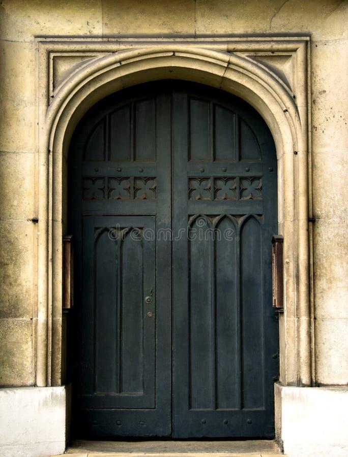 Porta dell'abbazia di Westminster della chiesa del ` s di St Margaret fotografie stock libere da diritti