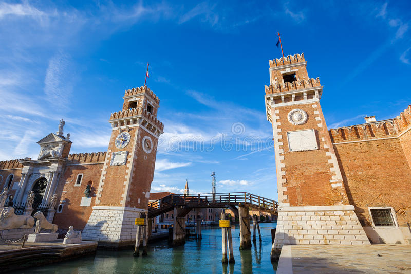 Porta dell Arsenale Venetië Italië stock afbeelding
