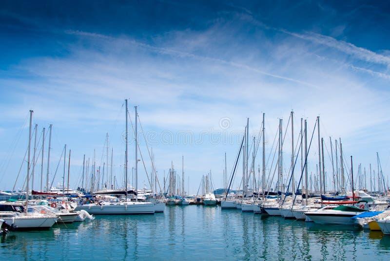 Porta dell'yacht a Cannes fotografie stock