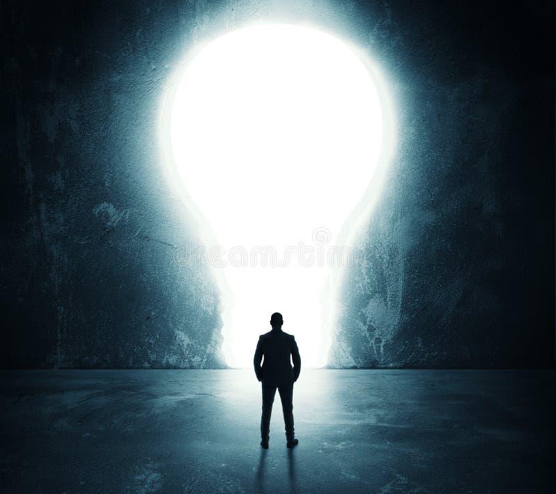 Porta della lampadina fotografie stock libere da diritti
