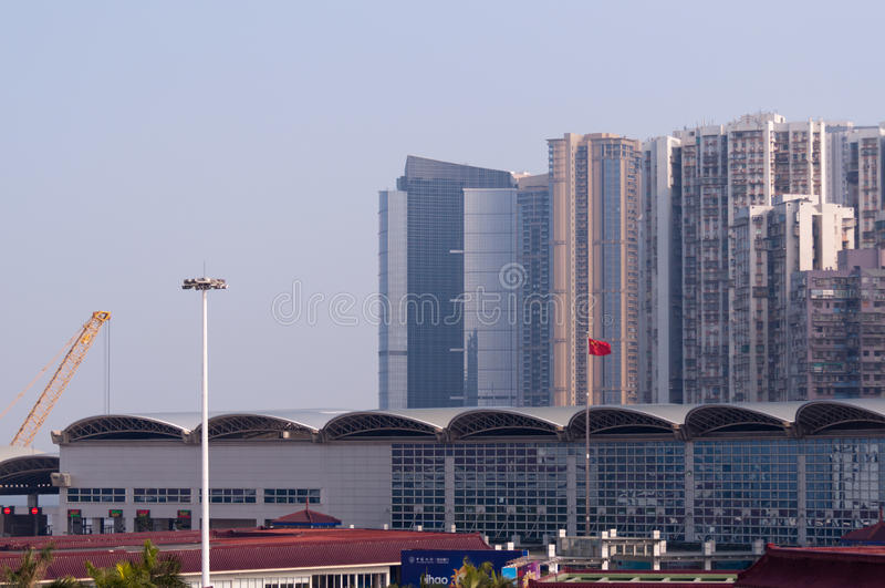 Porta della Macao e di Zhuhai, Cina immagine stock libera da diritti