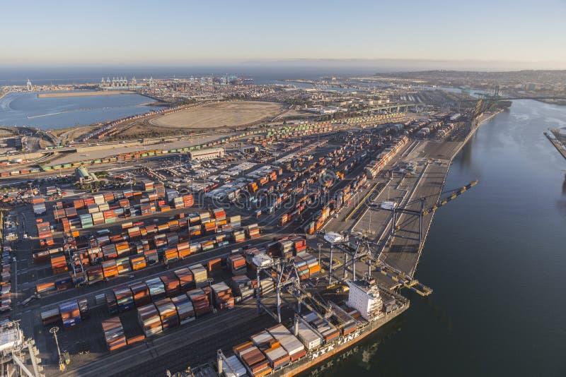 Porta della vista aerea di pomeriggio di Los Angeles fotografie stock