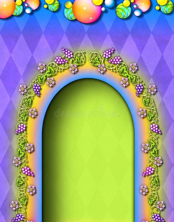 Porta dello Storybook royalty illustrazione gratis