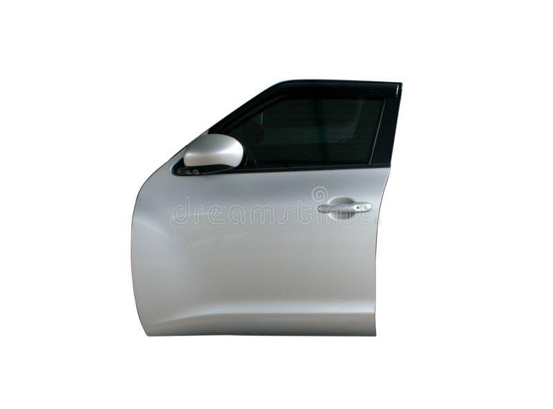 Porta di automobile moderna su fondo isolato fotografia stock libera da diritti