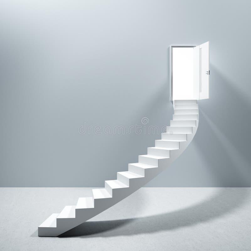 Porta di cielo delle scale della scala royalty illustrazione gratis