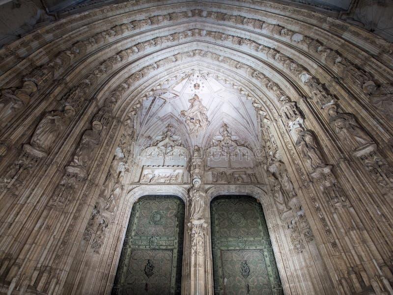 Porta di entrata di Toledo di Santa Iglesia fotografia stock libera da diritti