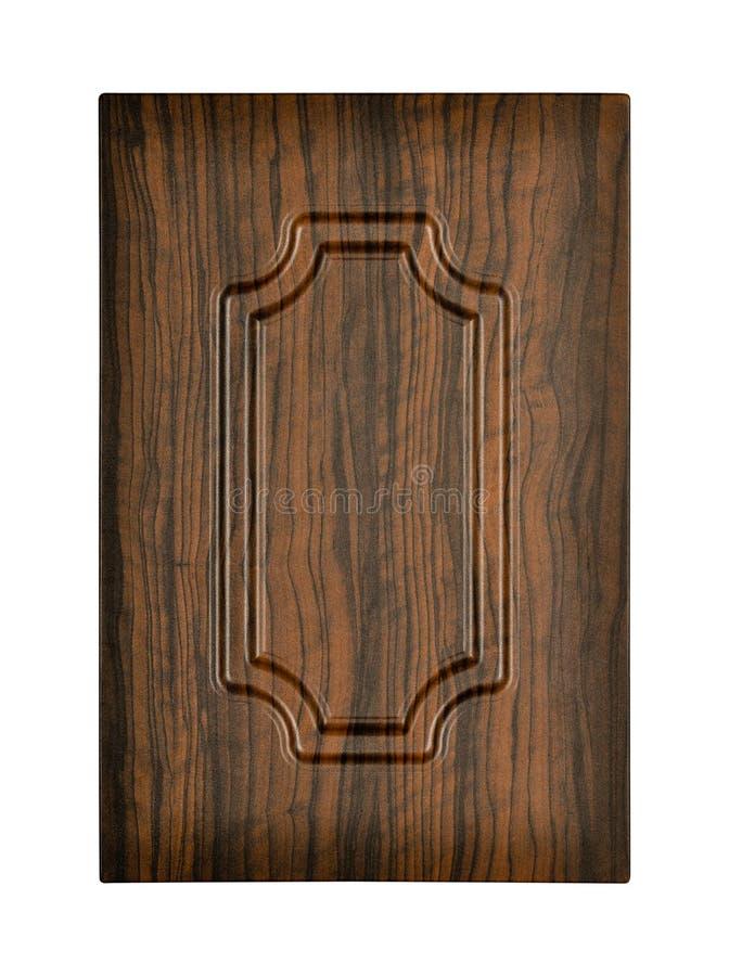 Porta di gabinetto di legno fotografia stock libera da diritti