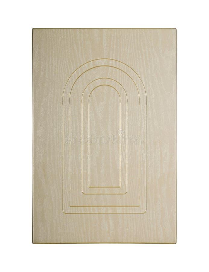 Porta di gabinetto di legno fotografia stock