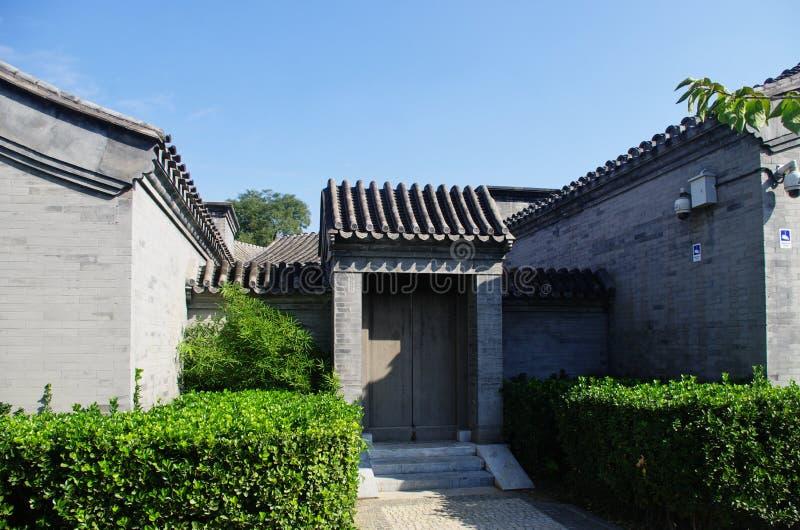 Porta di hutongl a Pechino immagine stock