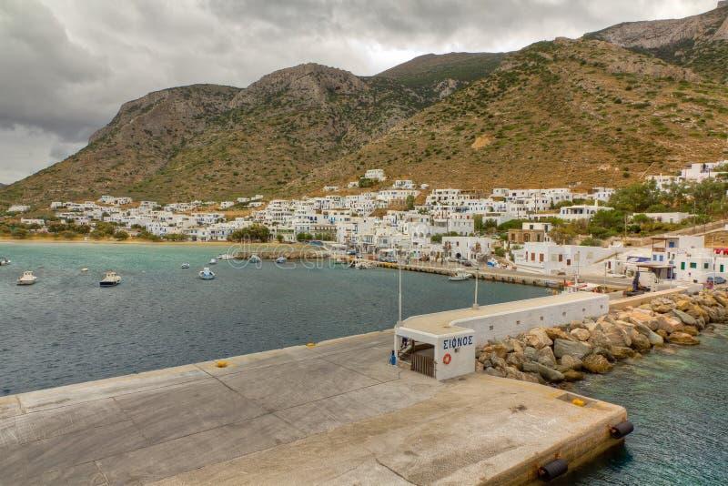 Porta di Kamares, isola di Sifnos immagine stock