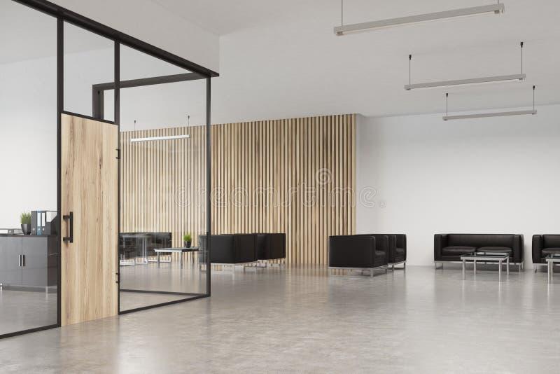 Porta Ingresso Ufficio : Porta di legno dellufficio di vetro ingresso illustrazione di