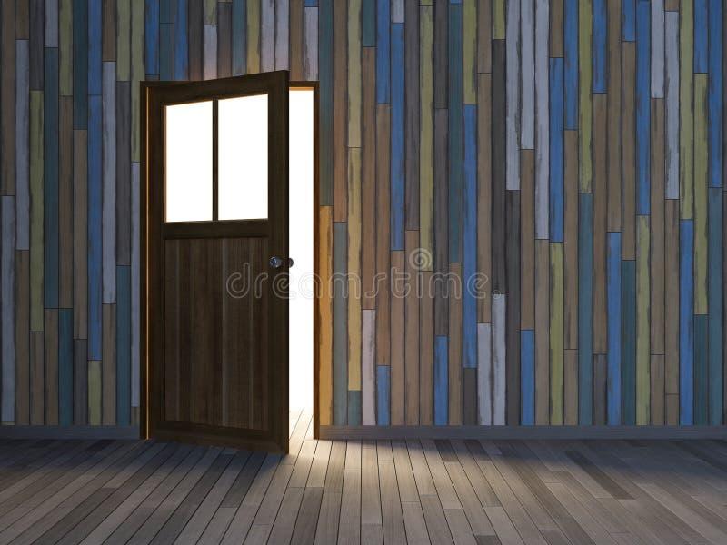 porta di legno 3Ds fotografia stock