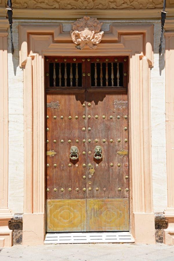 Porta di municipio, Ayamonte immagini stock