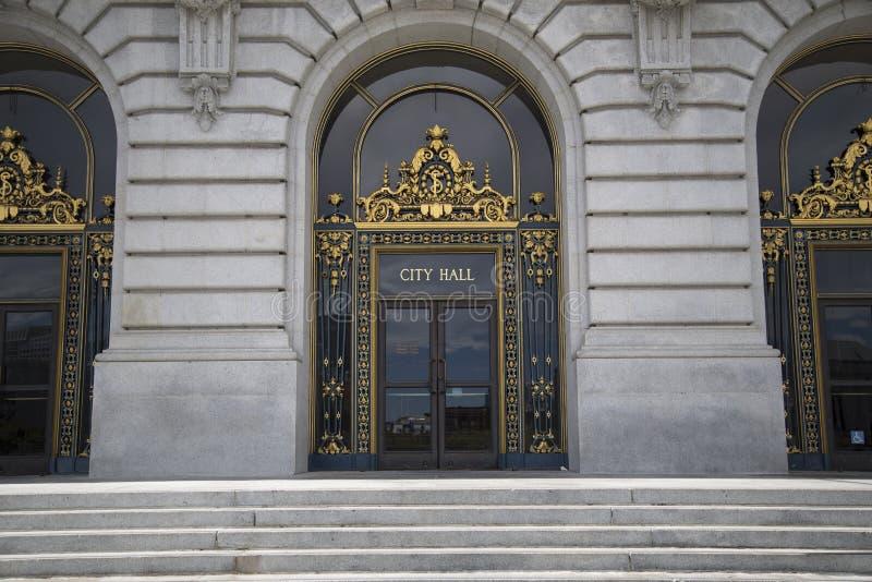 Porta di San Francisco City Hall fotografia stock