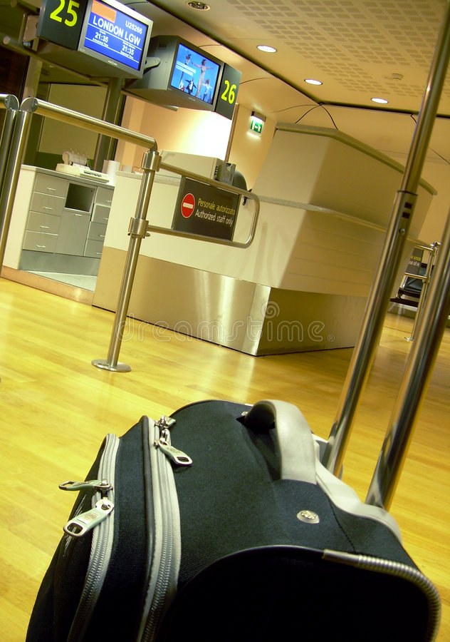 Porta do aeroporto fotografia de stock royalty free