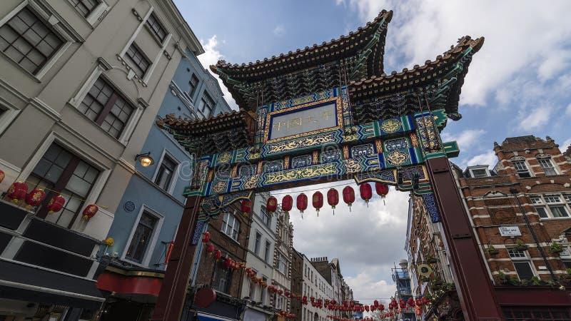 Porta do bairro chinês de Londres foto de stock royalty free