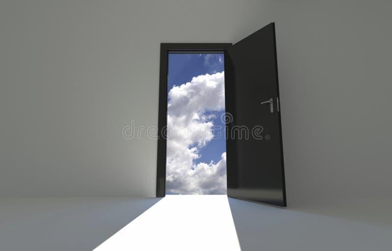 Porta do céu ilustração do vetor