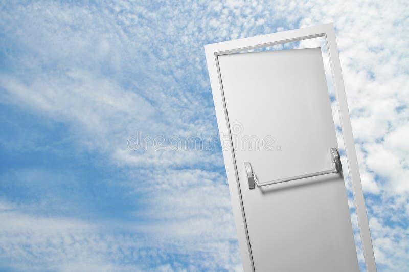 Porta do céu imagem de stock
