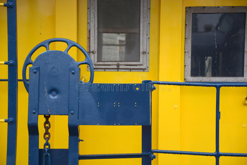 Porta do Caboose foto de stock