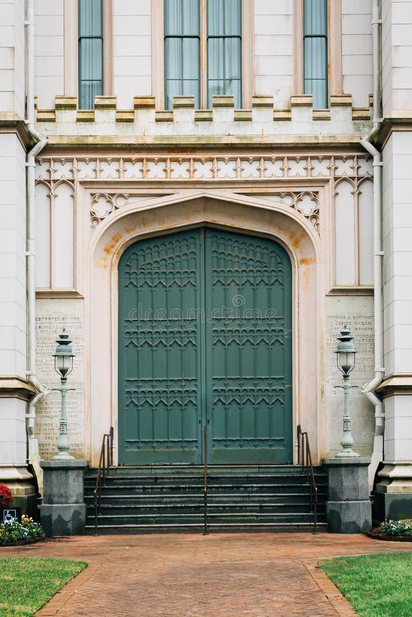 Porta do Capitólio velho do estado de Louisiana, em Baton Rouge, Louisiana fotos de stock royalty free