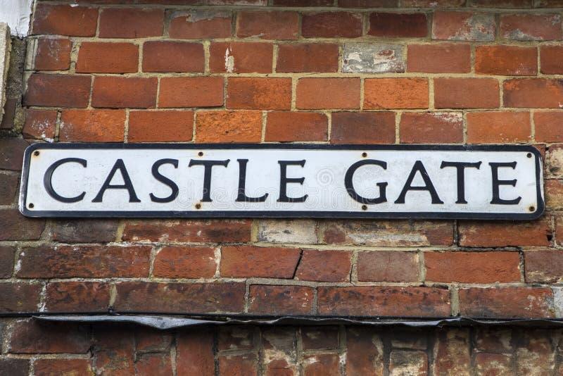 Porta do castelo em Lewes fotos de stock royalty free