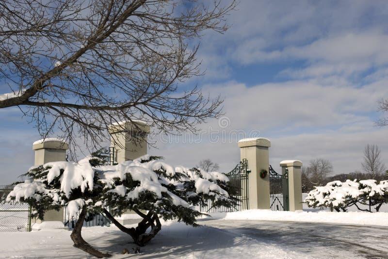 Porta do cemitério fotografia de stock