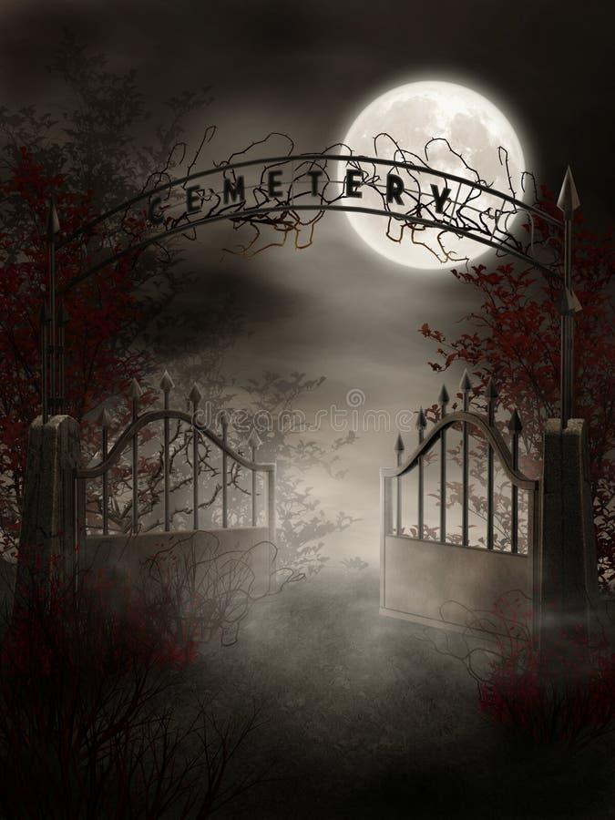 Porta do cemitério ilustração do vetor