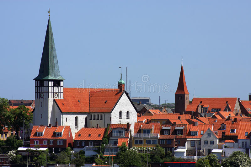 Porta do console de Dinamarca Bornholm de Ronne imagens de stock royalty free