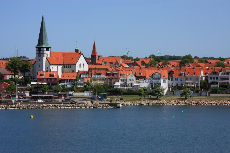 Porta do console de Dinamarca Bornholm de Ronne fotos de stock royalty free