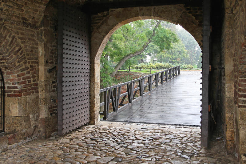 Porta do Dungeon foto de stock