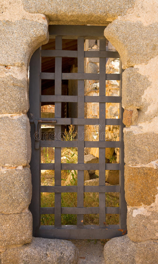 Porta do Dungeon fotografia de stock