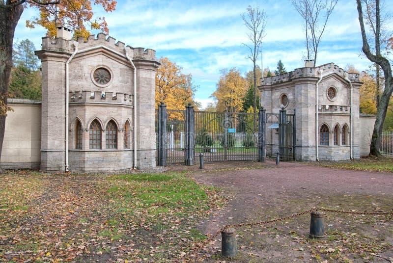 A porta do elefante de Krasnoe Selo em Alexander Park pushkin Tsarskoye Selo Rússia fotografia de stock royalty free