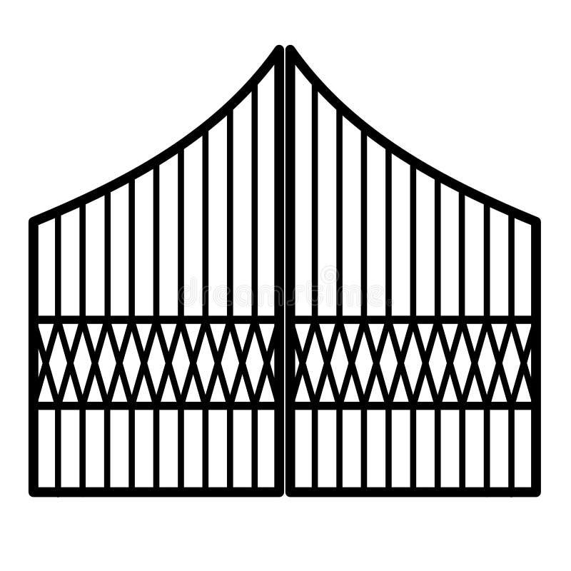 Porta do ferro ilustração stock