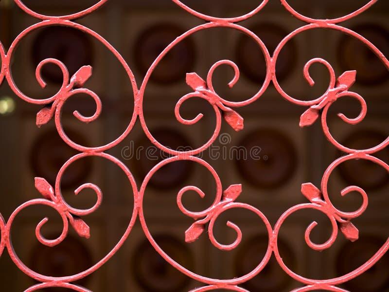 Porta do ferro feito foto de stock