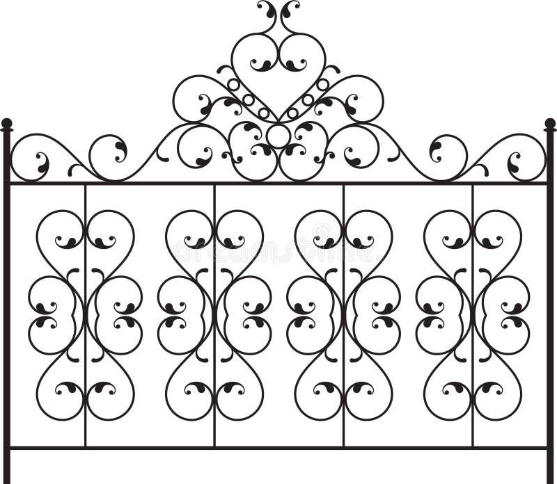 Porta do ferro feito ilustração do vetor