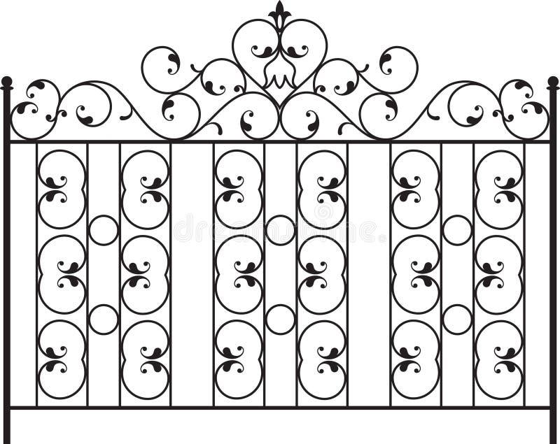 Porta do ferro feito ilustração stock