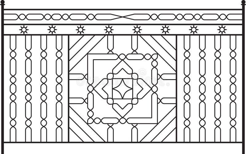 Porta do ferro feito ilustração royalty free