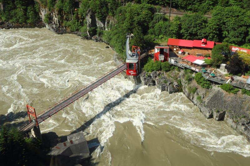Porta do inferno, rio de Fraser foto de stock royalty free