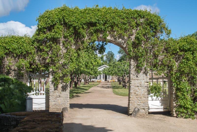 Porta do jardim velho verão fotos de stock royalty free