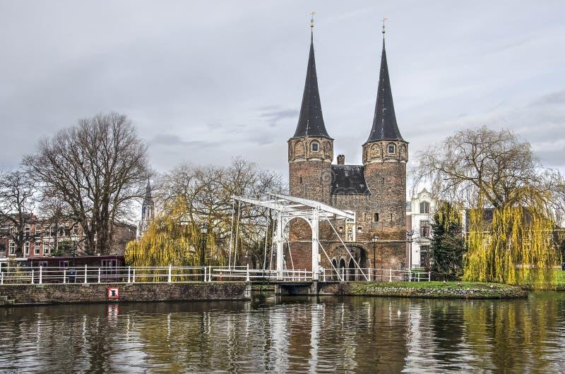 Porta do leste da louça de Delft fotografia de stock royalty free