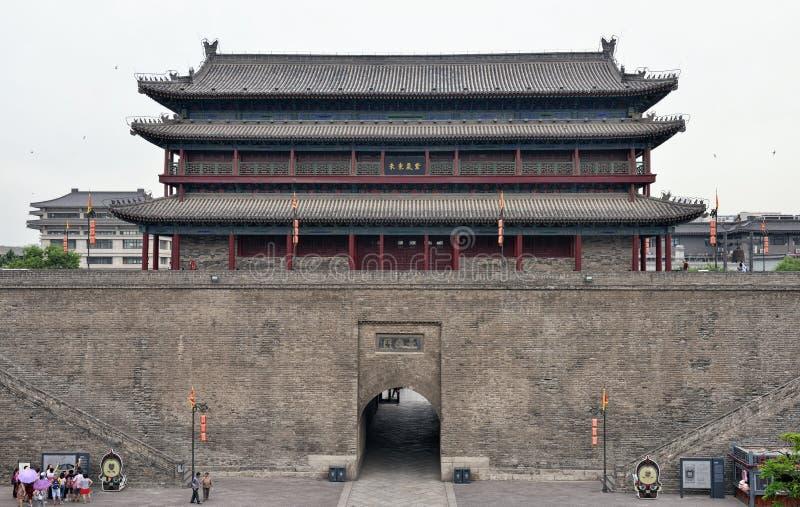 A porta do leste da parede da cidade de Xi'an foto de stock royalty free