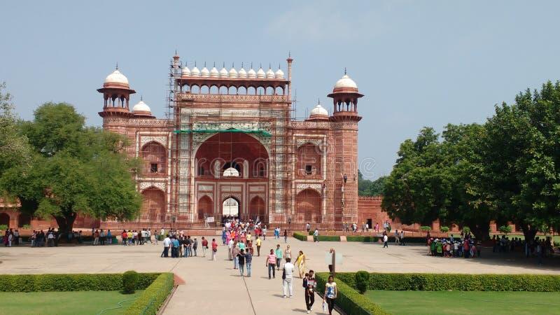 Porta do leste de Taj Mahal imagens de stock