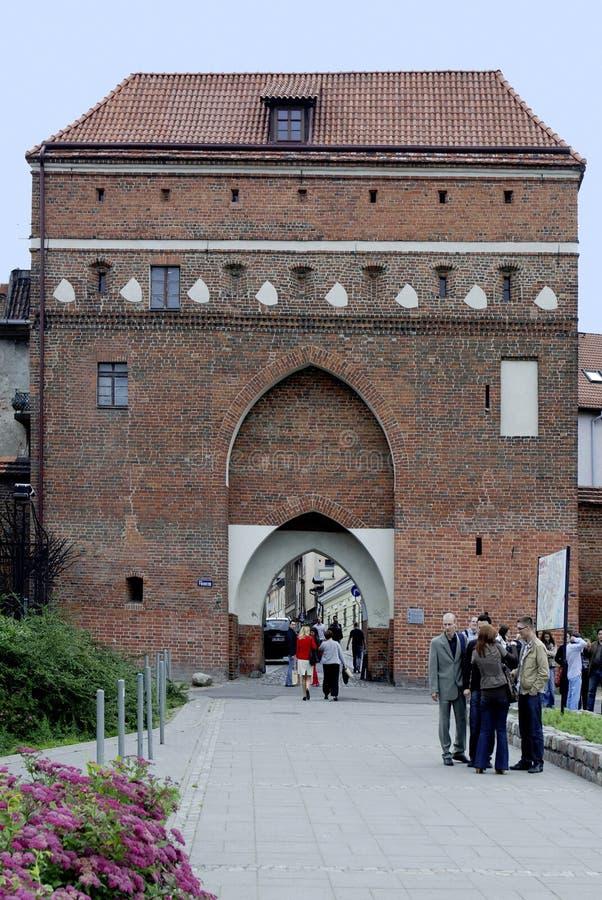 Porta do monastério de Torun no Polônia fotos de stock
