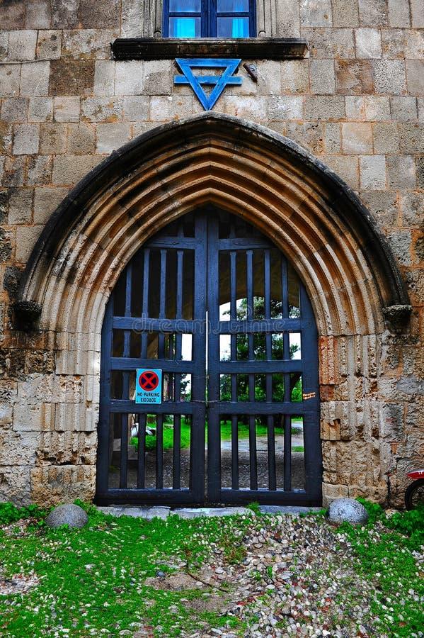 Porta do monastério fotos de stock