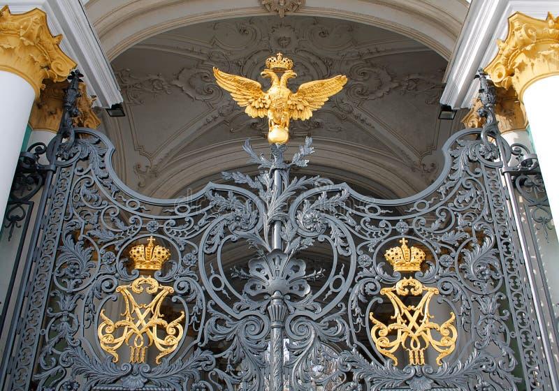 Porta do museu do eremitério do estado imagens de stock